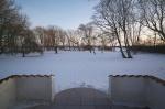 Vinterbillede fra terrassen